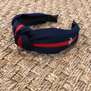 Accessories - Navy and Red Bumble Bee Knotted Ribbon Headband